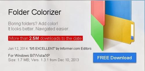 Download Aplikasi Folder Colorizer Untuk Merubah Warna Folder Gratis