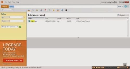 Download Aplikasi Gratis Untuk Pencarian File : Copernic Desktop Search