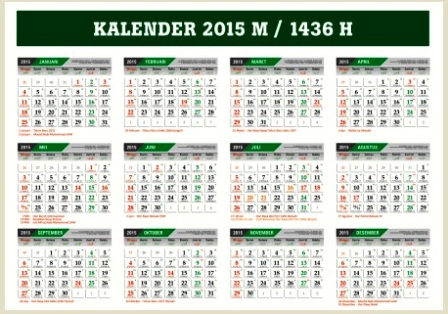 Download Kalender 2015 M - 1436 Hijriyah Cdr